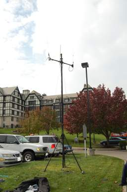 BlueSky Mast - This antenna mast allows us to provide quick area coverage using portable repeaters or base station radios. It can be used at ground level or installed on a building rooftop or garage.