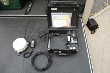 G2 MSAT Phone - Our Sat Phones allow the Cache to communicate with each other and VDEM when all other communications fail or we are in a area with poor cell coverage. We operate on our own talkgroup.  We also have to ability to interconnect portable radios in the device and work away from the G2.